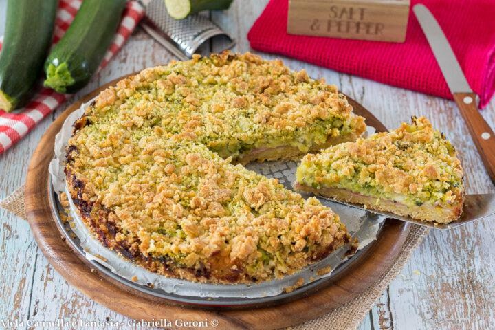 sbriciolata con zucchine
