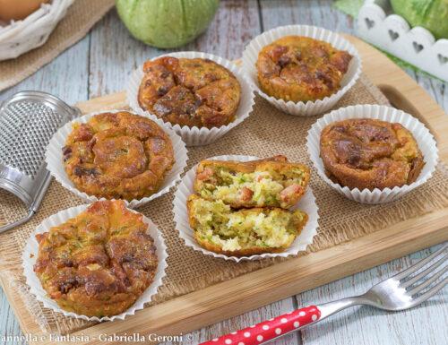 Muffin con zucchine pancetta e provola affumicata morbidissimi
