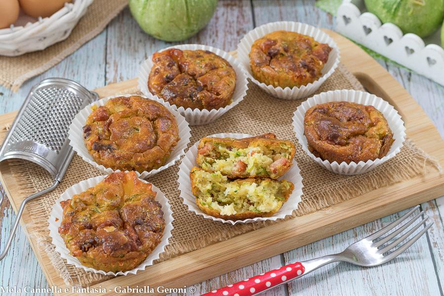 muffin con zucchine