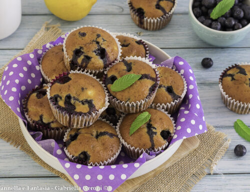 Muffin mirtilli e ananas senza burro