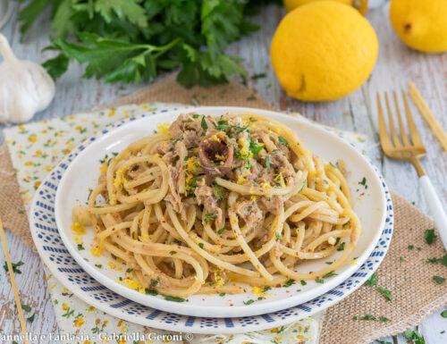 Spaghetti tonno e limone ricetta facile e veloce