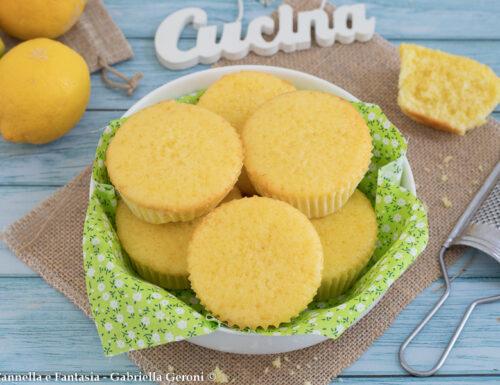 Muffin al limone senza burro e senza latte morbidissimi