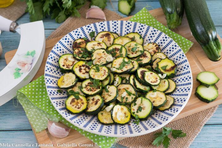 zucchine alla scapece non fritte