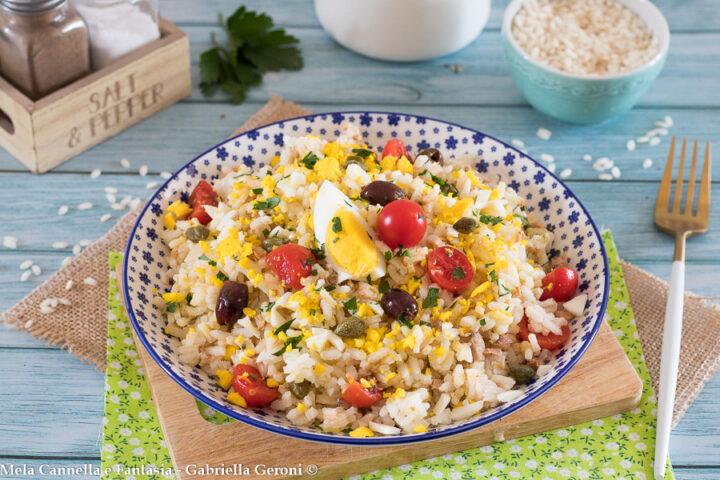 insalata di riso tonno capperi olive