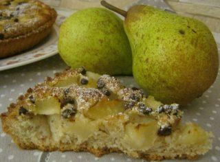 crostata con frangipane e pere