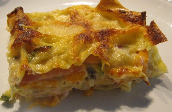 lasagne con verdure e prosciutto