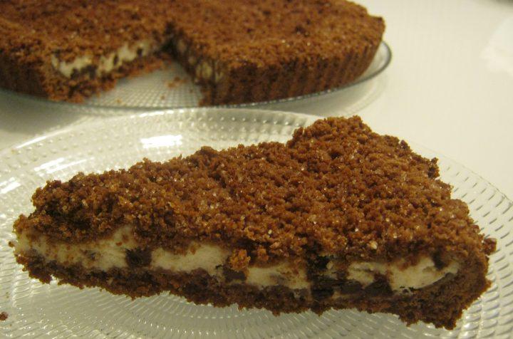 sbriciolata al cacao con crema di ricotra