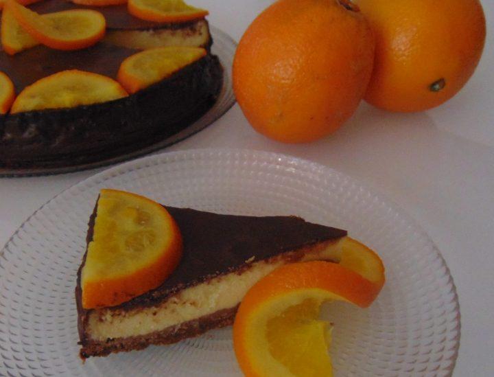 cheesecake cioccolato e arancia
