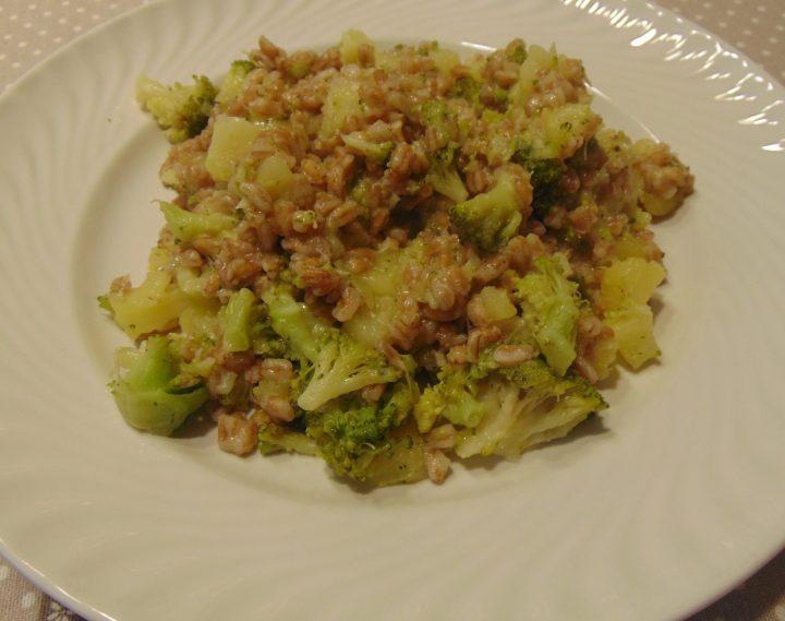 farro con broccoli e patate