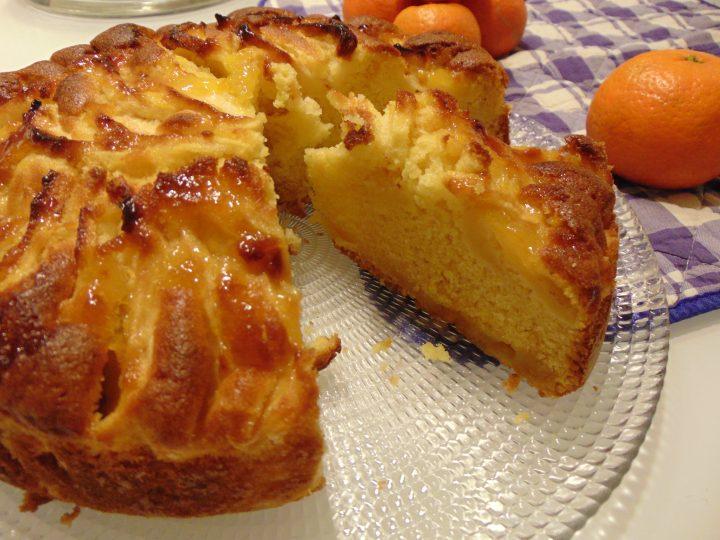 torta di mele e marmellata al mandarino