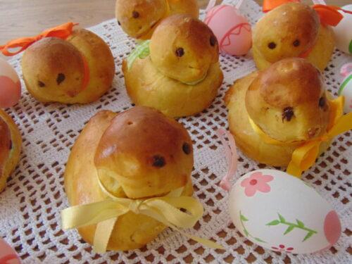 Pulcini di pan brioche