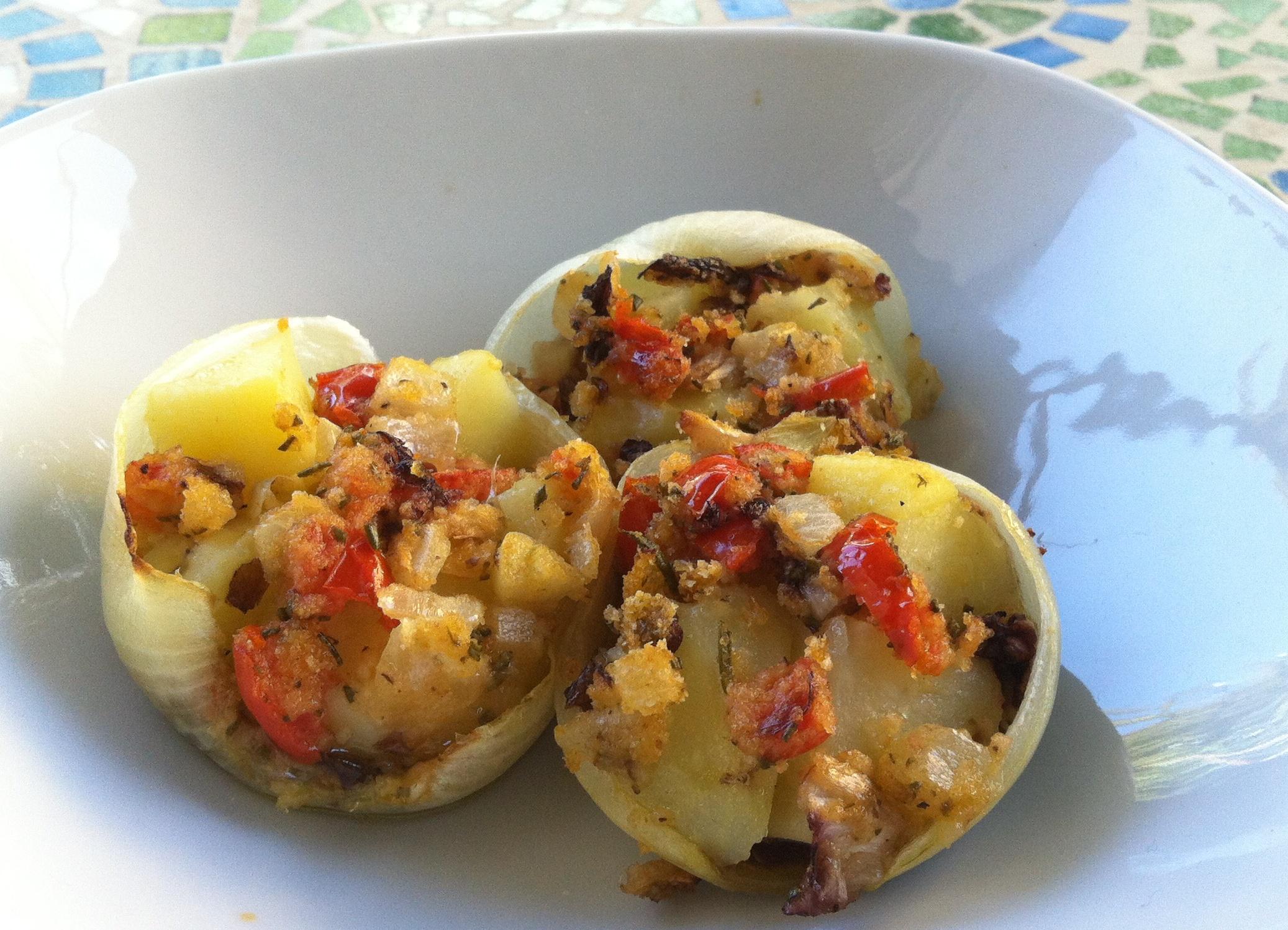 cestini di cipolla con patate