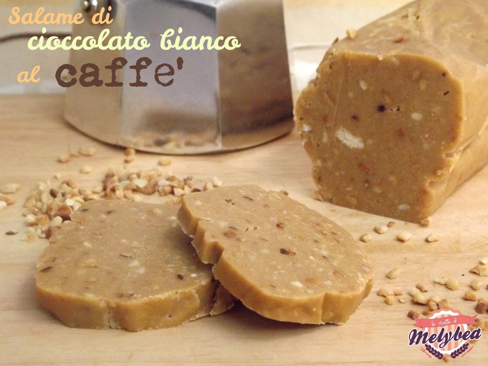 salame di cioccolato bianco al caffè