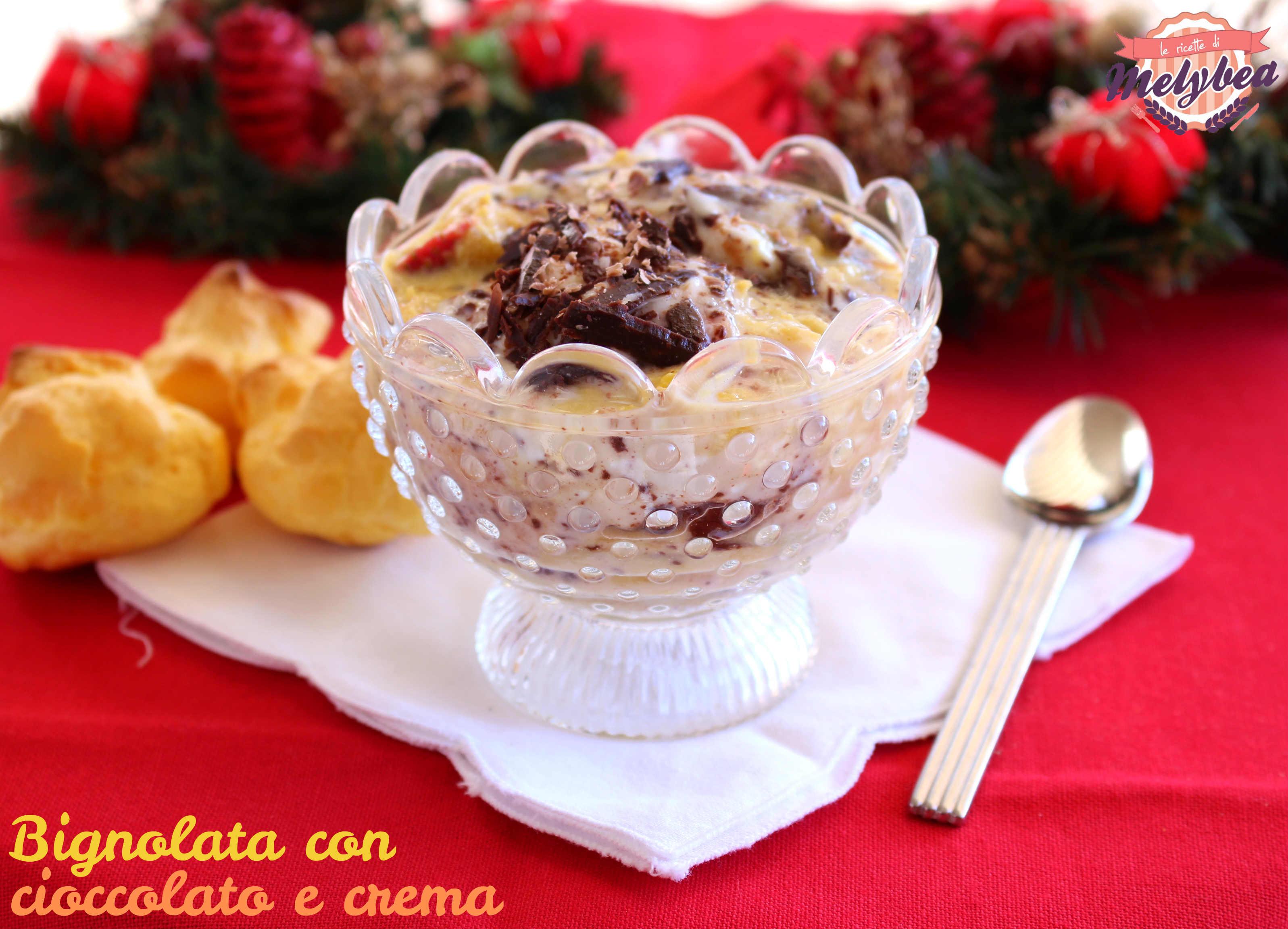 bignolata con cioccolato e crema