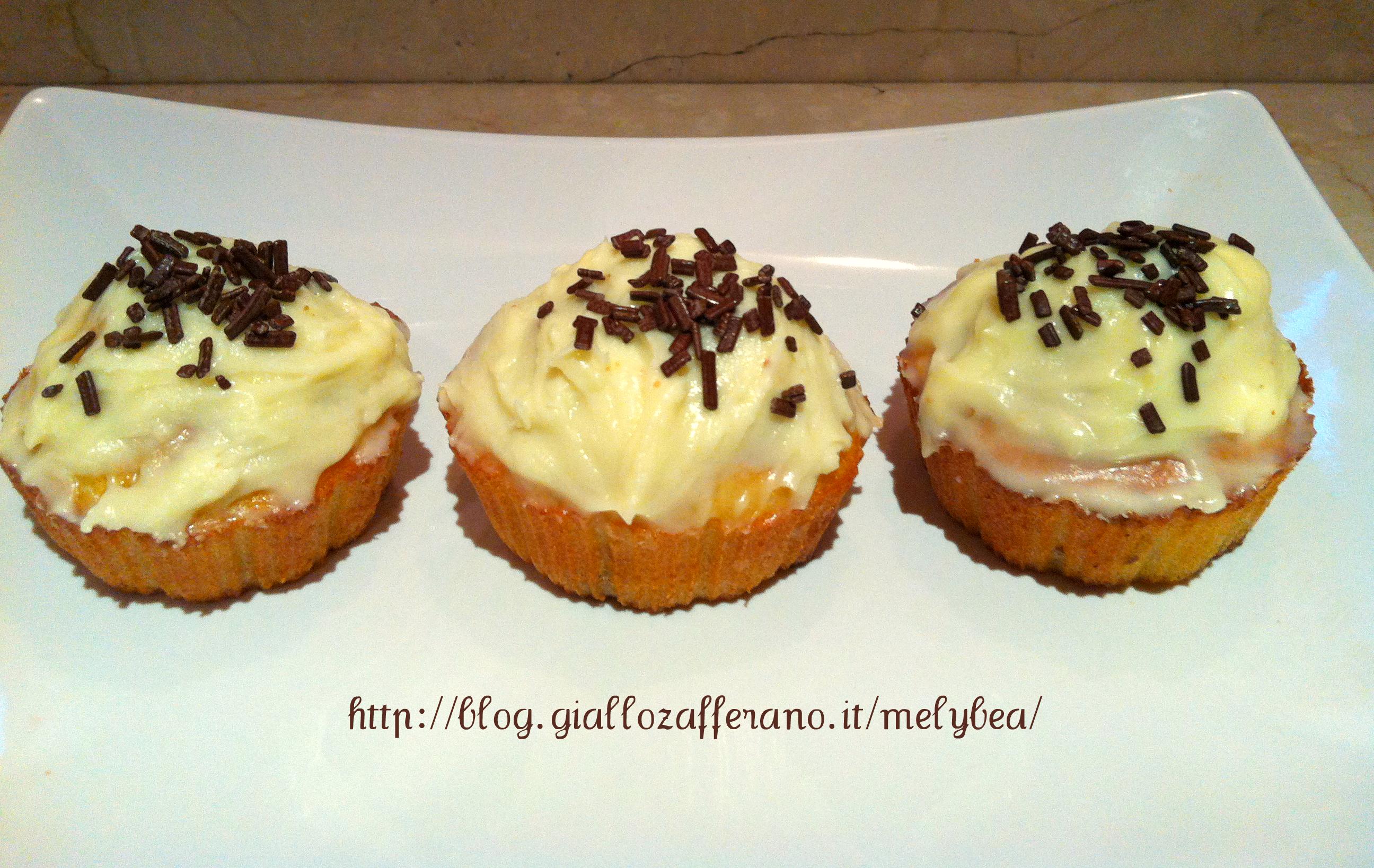 Cupcake banana e cioccolato bianco