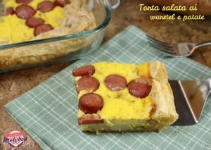 torta salata ai wurstel e patate
