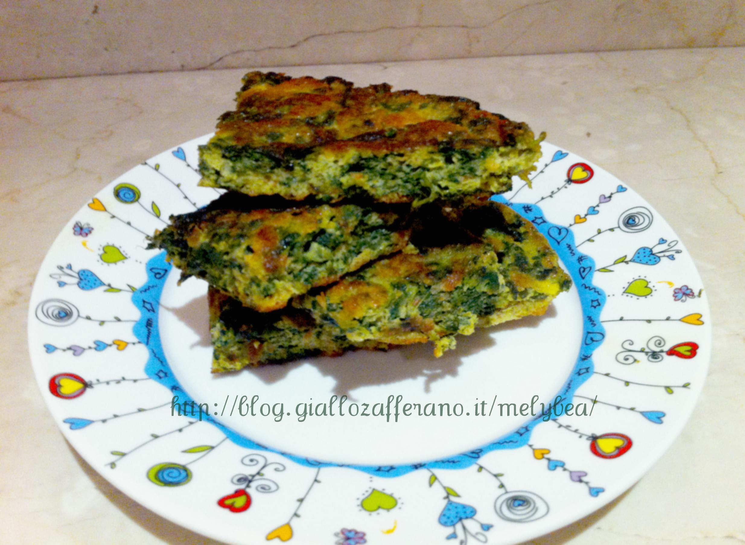Frittata con spinaci e menta