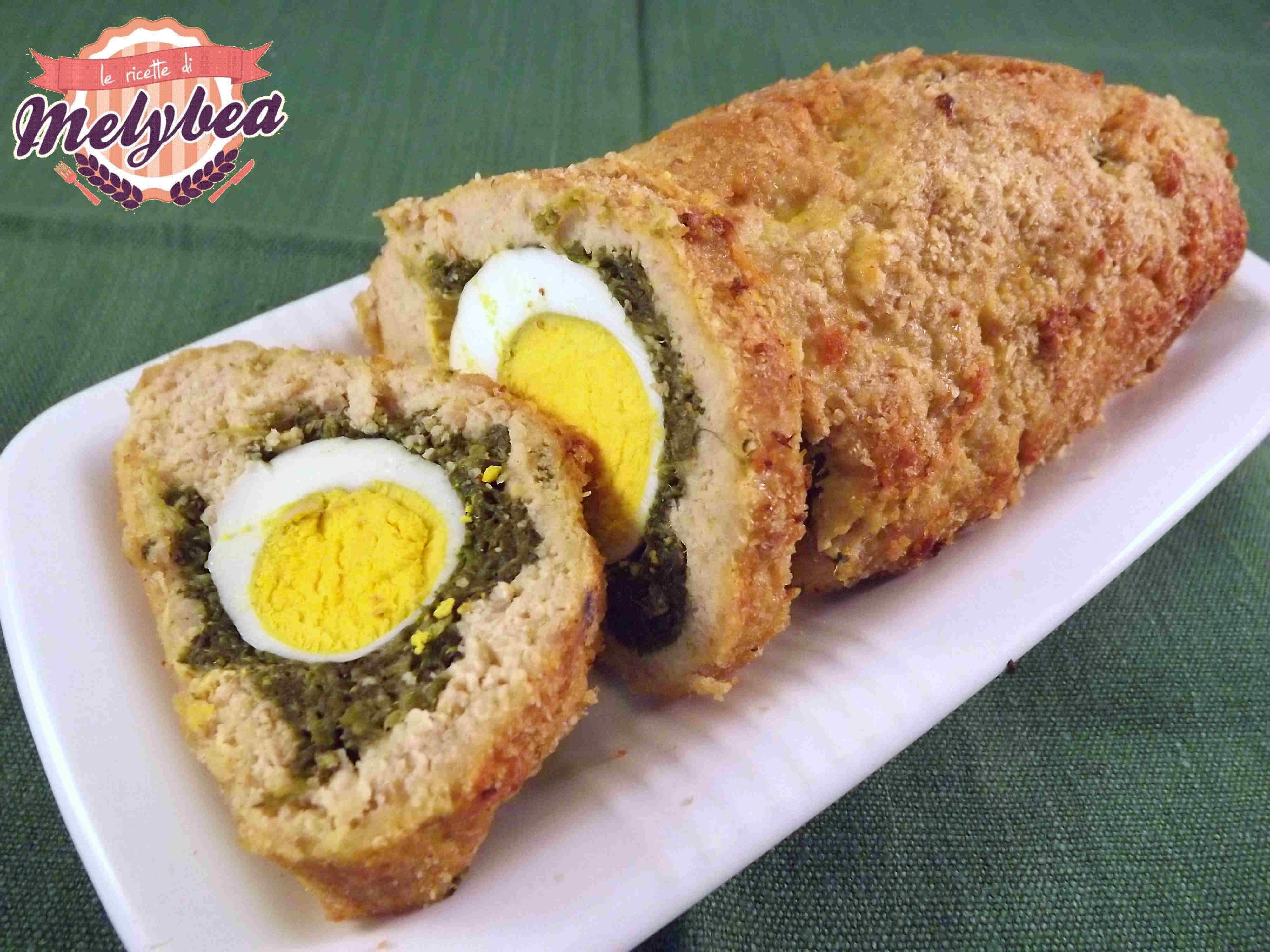 polpettone con uova e spinaci - polpettone pasqualino