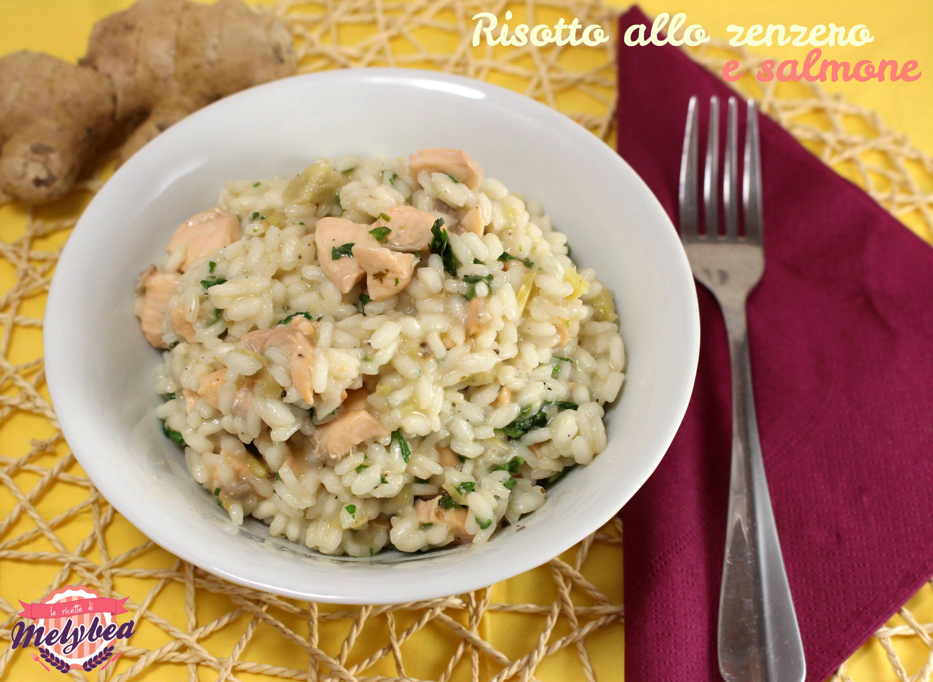 Risotto allo zenzero e salmone le ricette di melybea for Cucinare zenzero