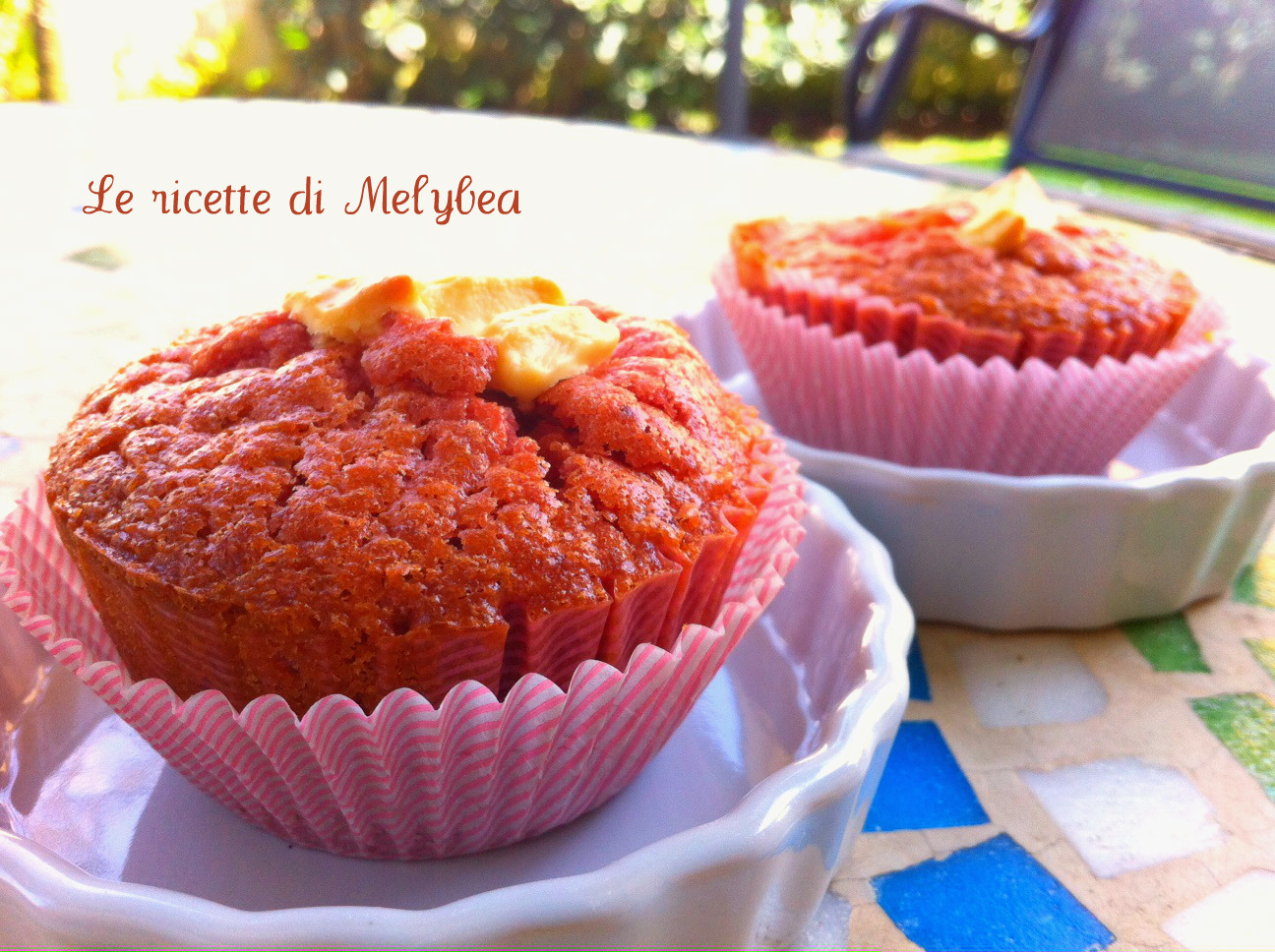 muffin alle fragole e cioccolato bianco ipiccy