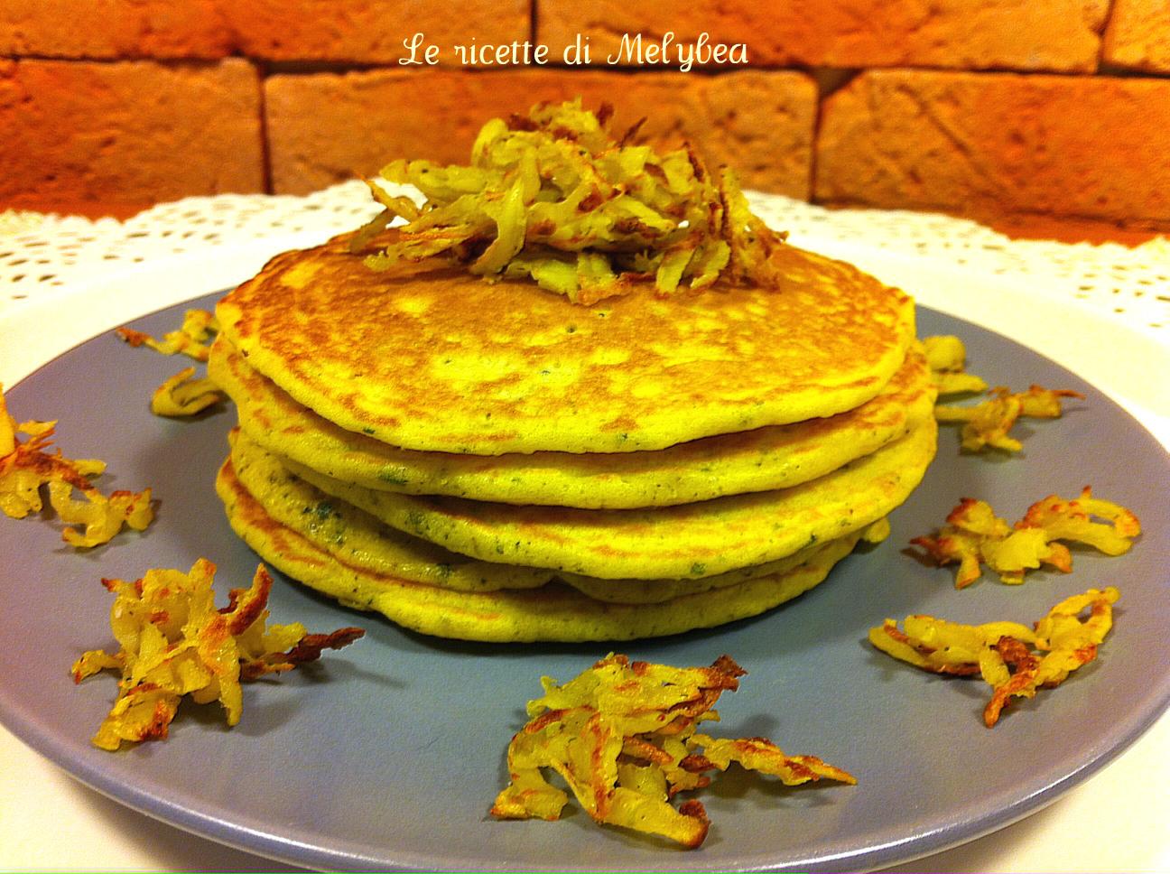 Pancakes salati al rosmarino
