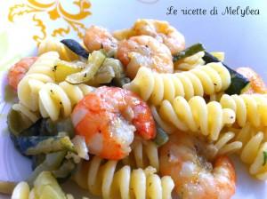 pasta con zucchine e gamberetti ipiccy
