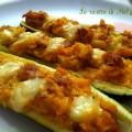 Zucchine ripiene con salsiccia e patate