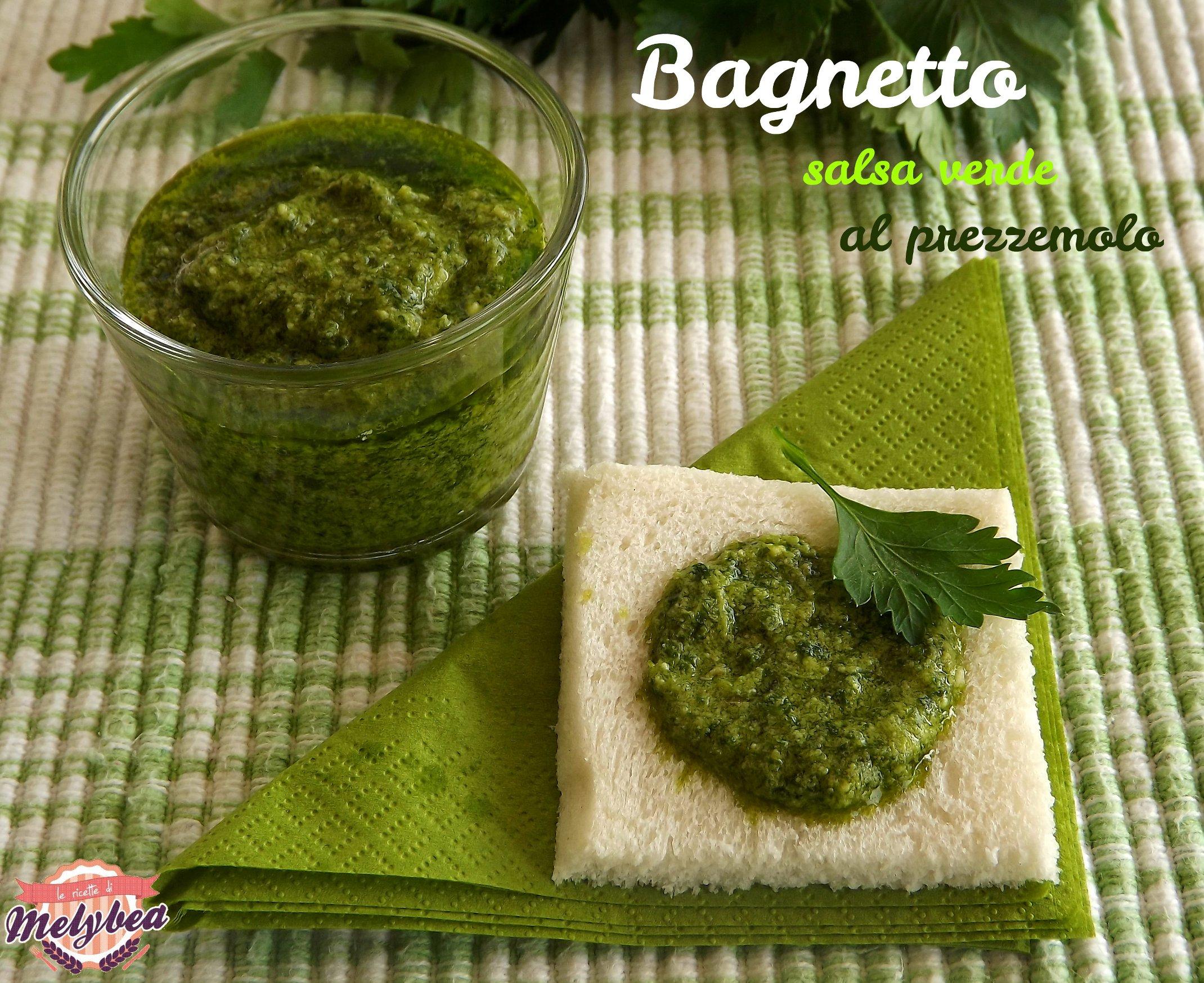 salsa verde al prezzemolo - bagnetto