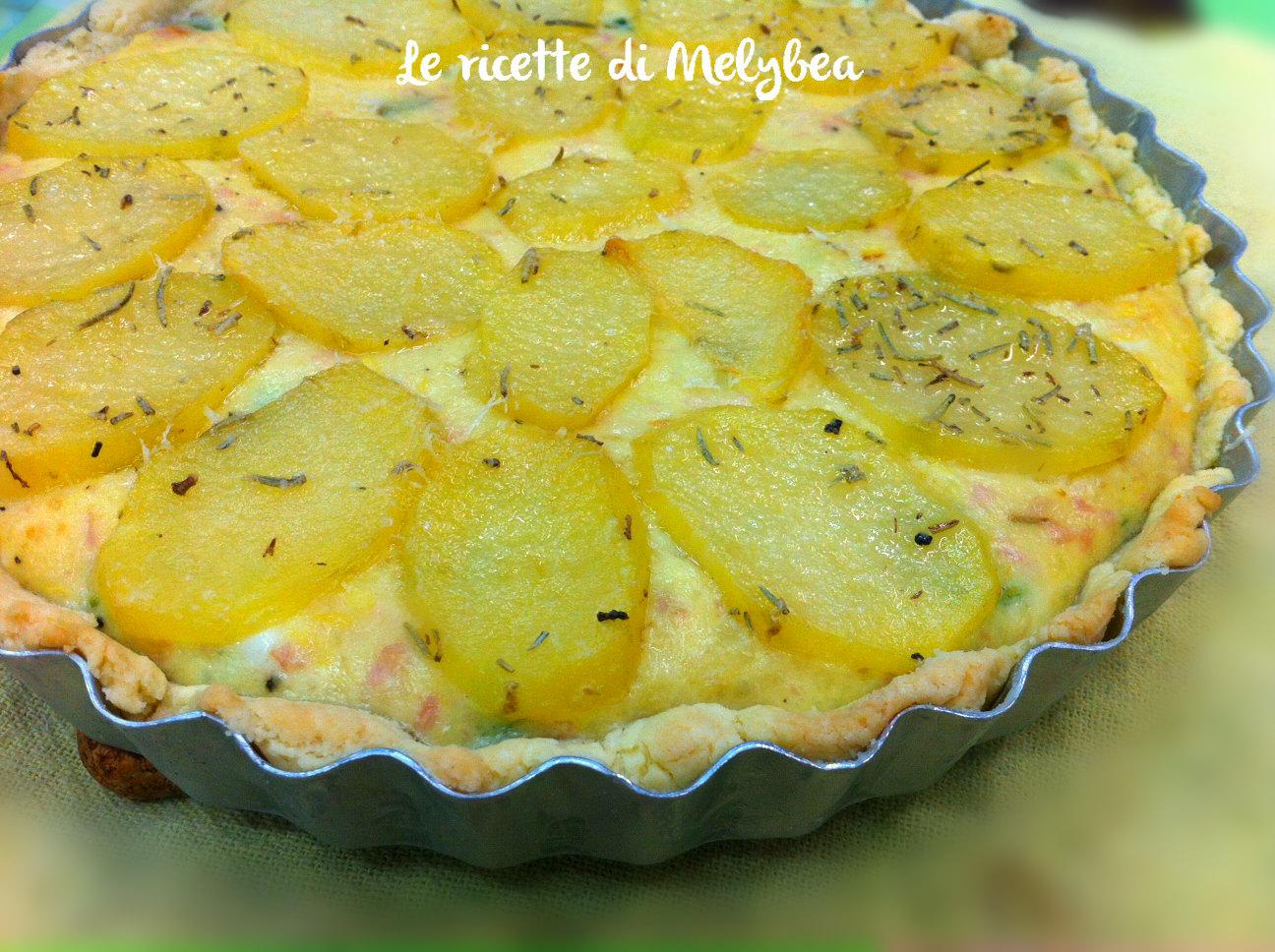 Torta salata con patate e zucchine le ricette di melybea for Torte salate con pasta sfoglia
