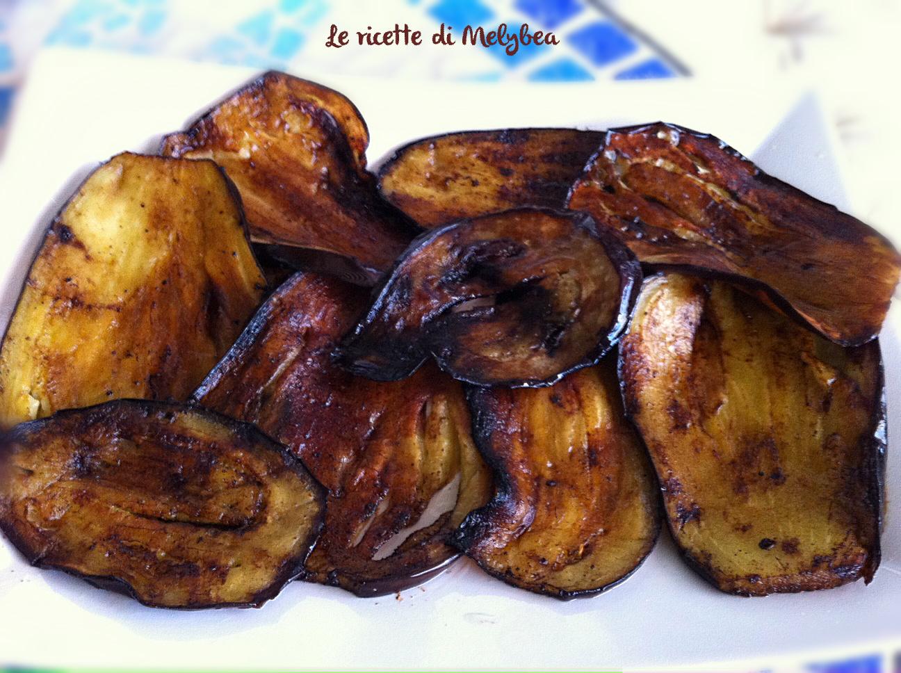 Melanzane fritte con olio e aceto balsamico