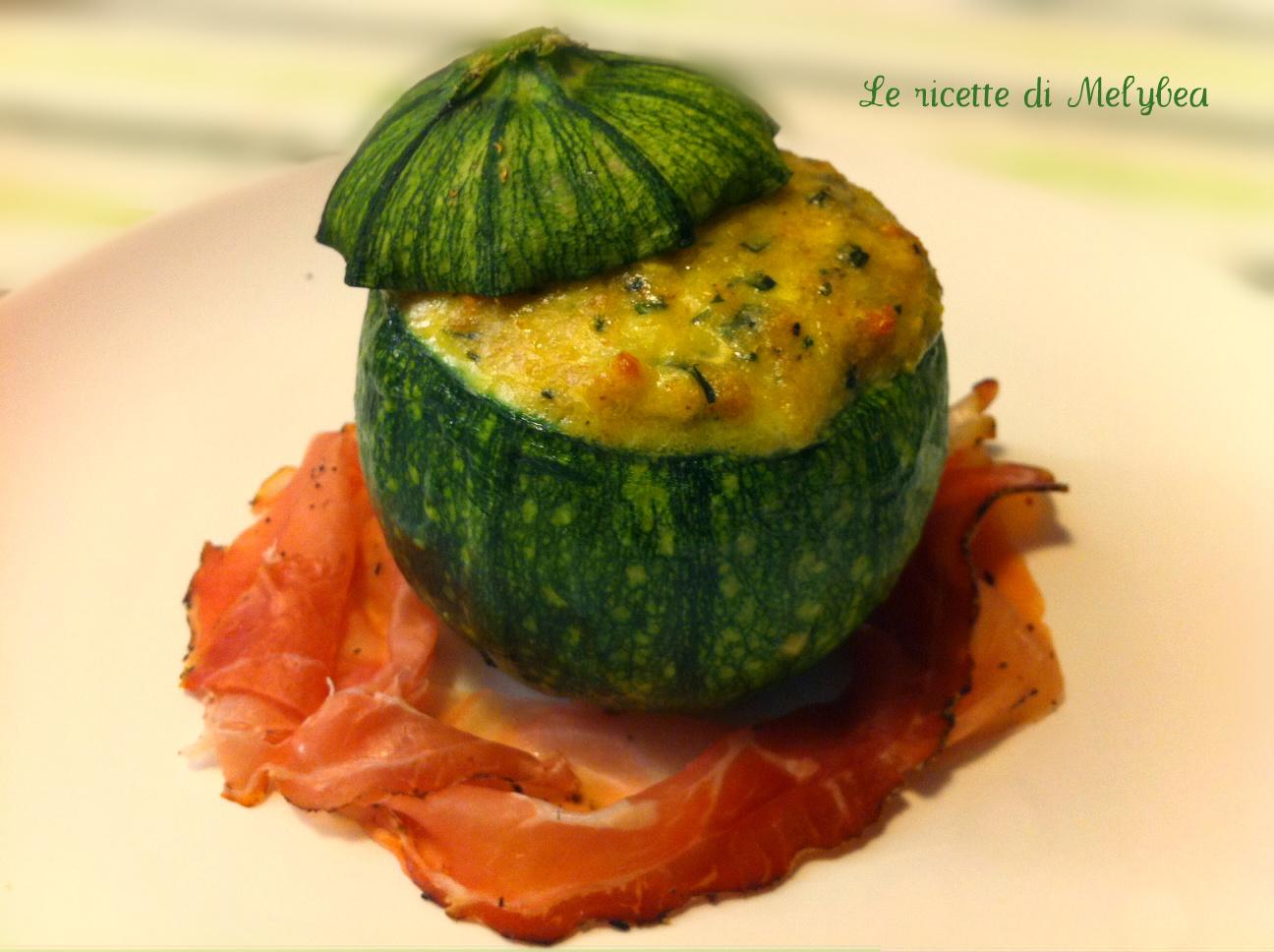 Zucchine tonde ripiene le ricette di melybea for Cucinare zucchine tonde