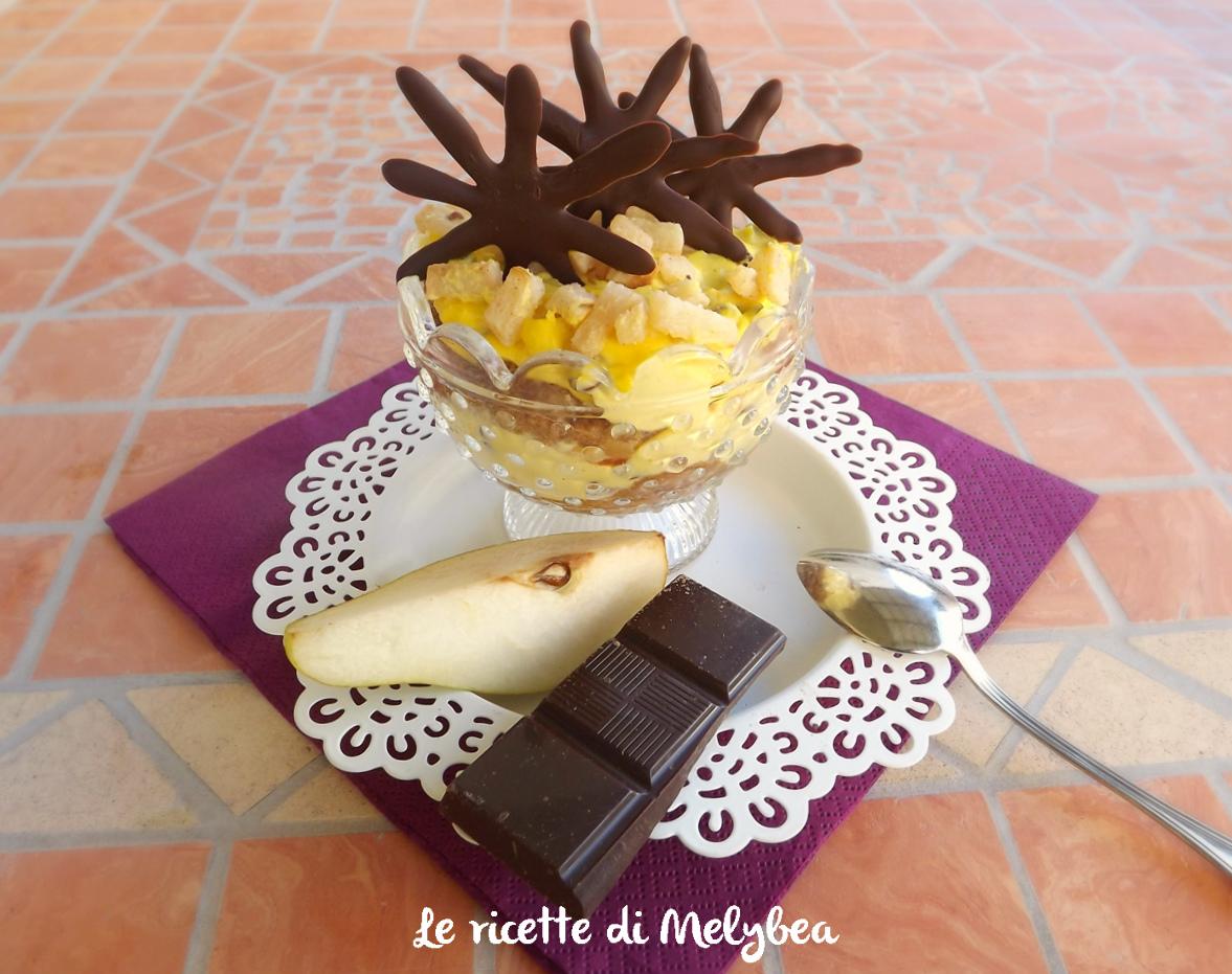 Tiramisu alla pera e cioccolato