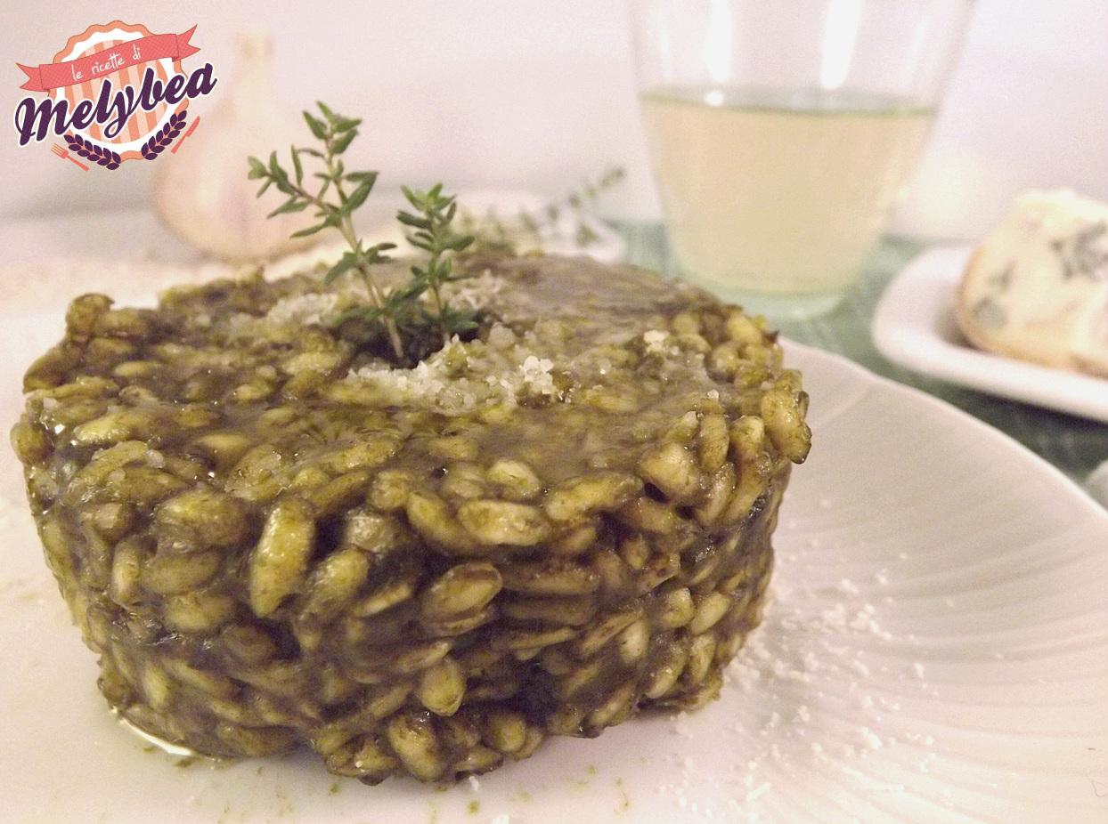 risotto agli spinaci e gorgonzola