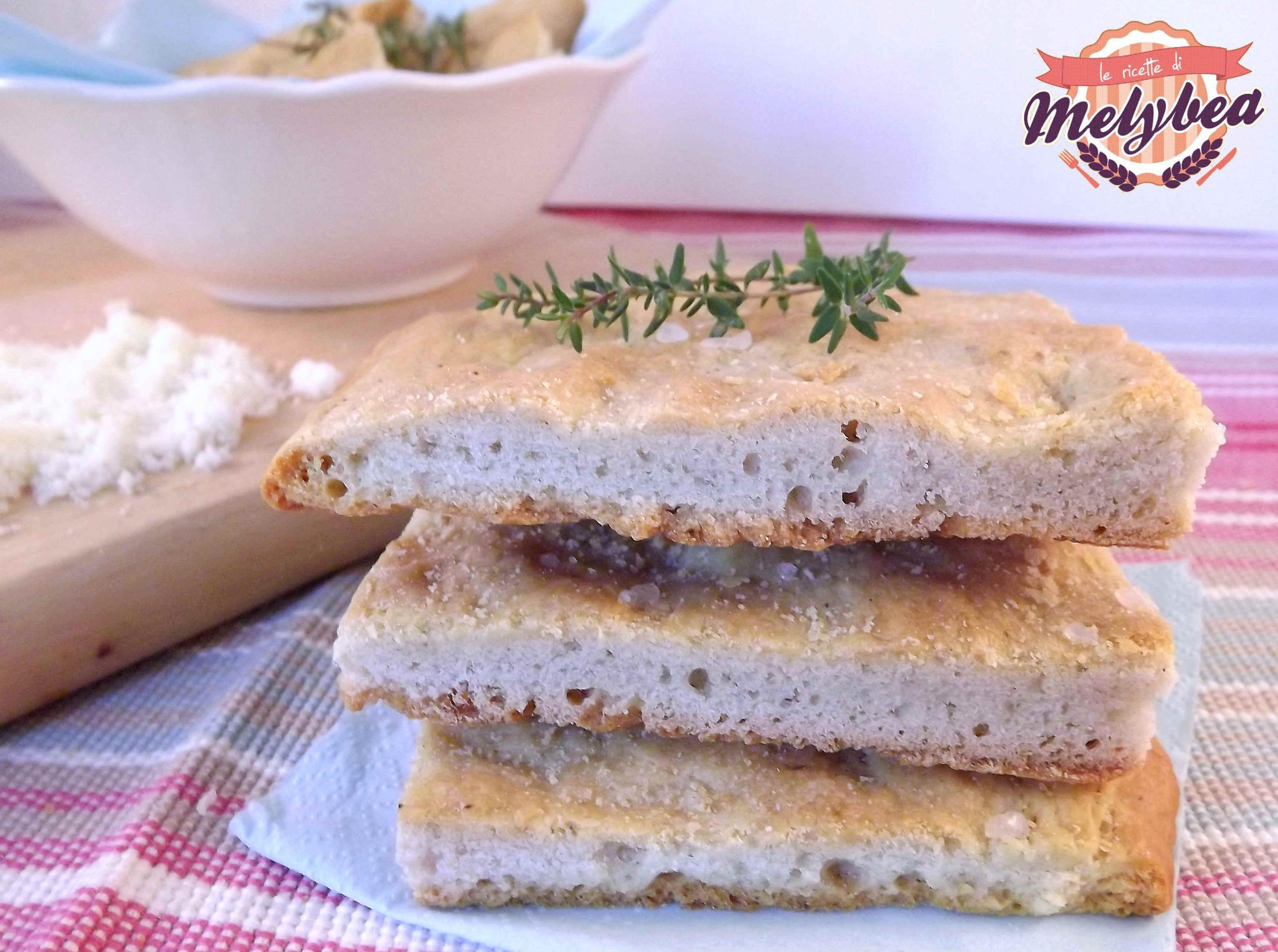 schiacciata al gorgonzola con lievito madre