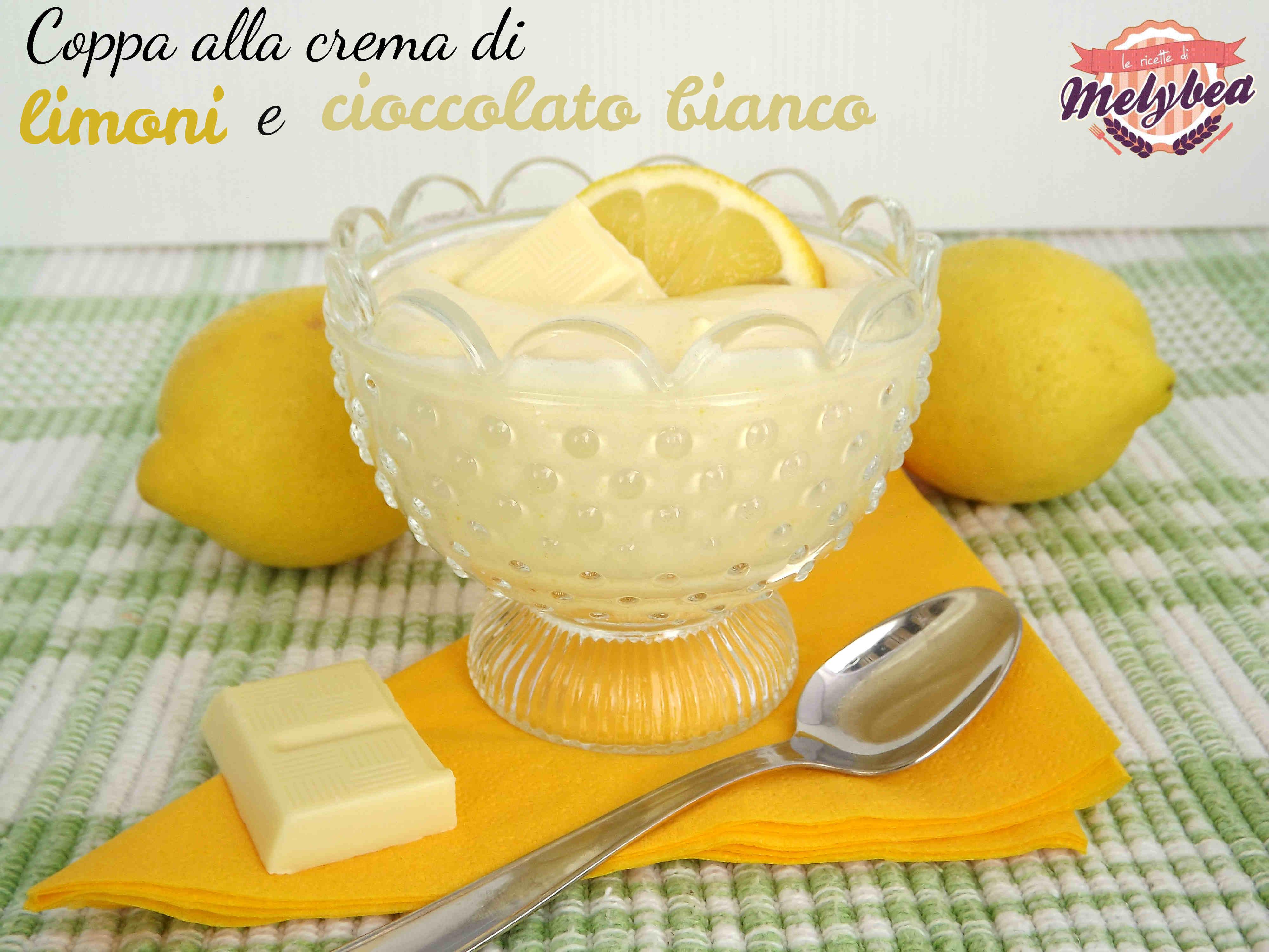 coppa alla crema di limoni e cioccolato bianco