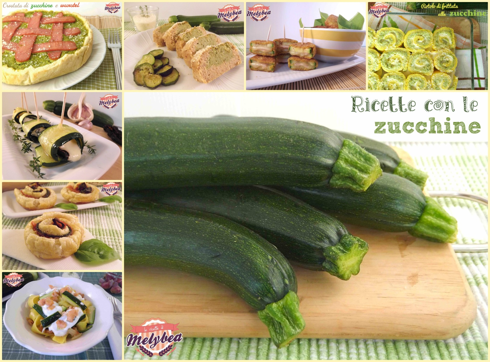 ricette con le zucchine collage