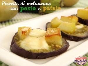 pizzette di melanzane con pesto e patate