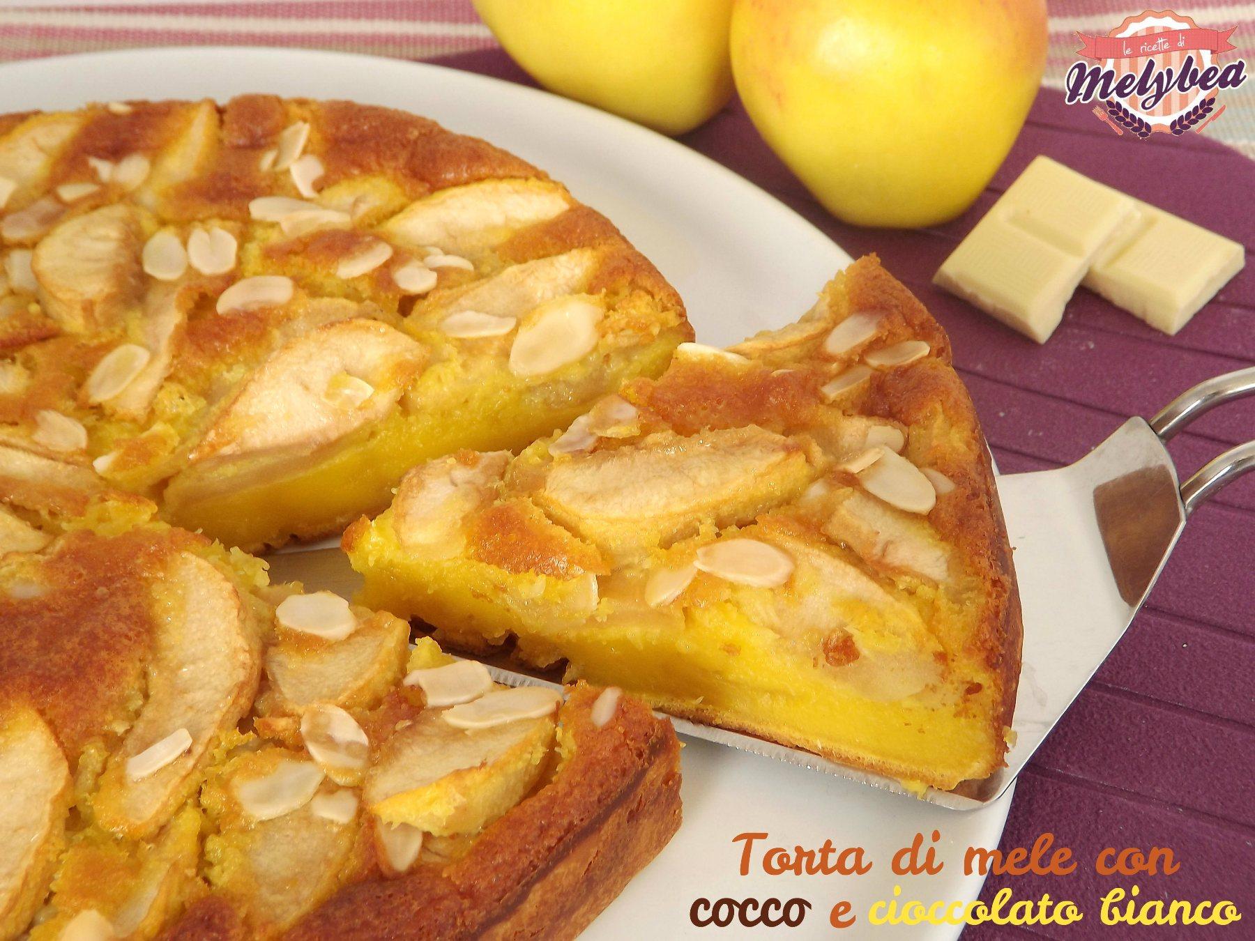 torta di mele con cocco e cioccolato bianco
