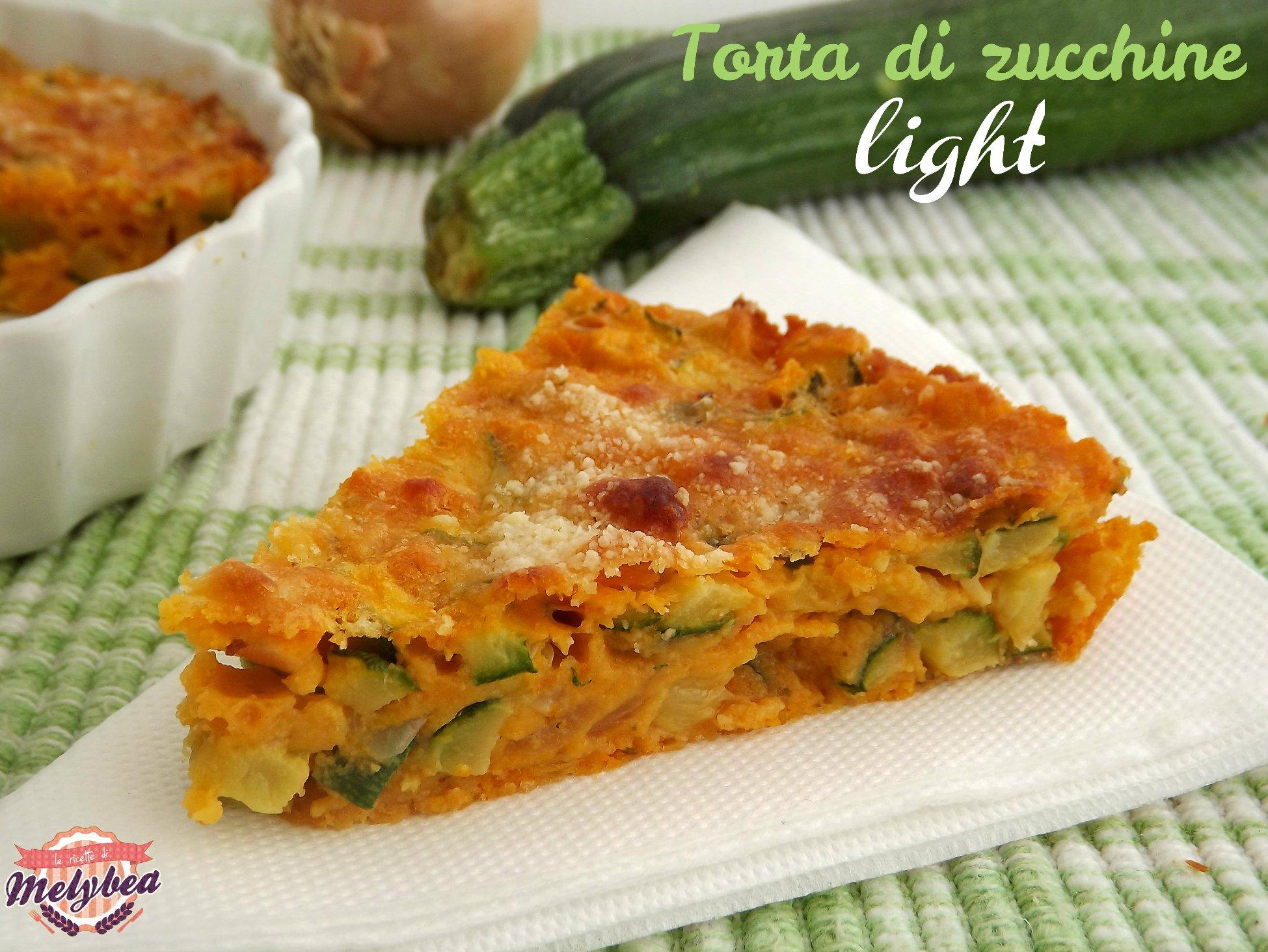torta di zucchine light