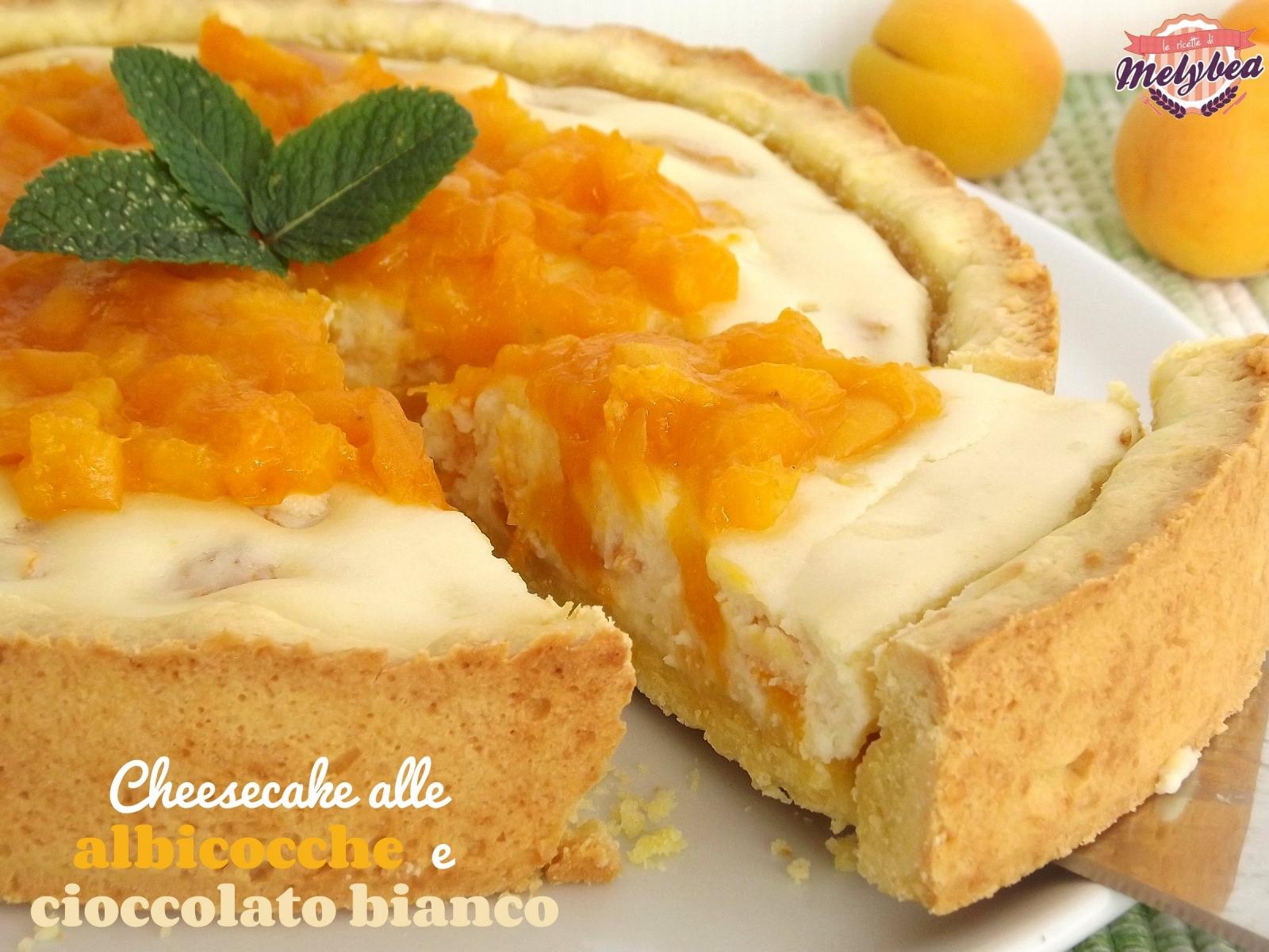 cheesecake alle albicocche e cioccolato bianco