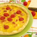 Torta rustica con Asiago DOP pancetta e pomodorini