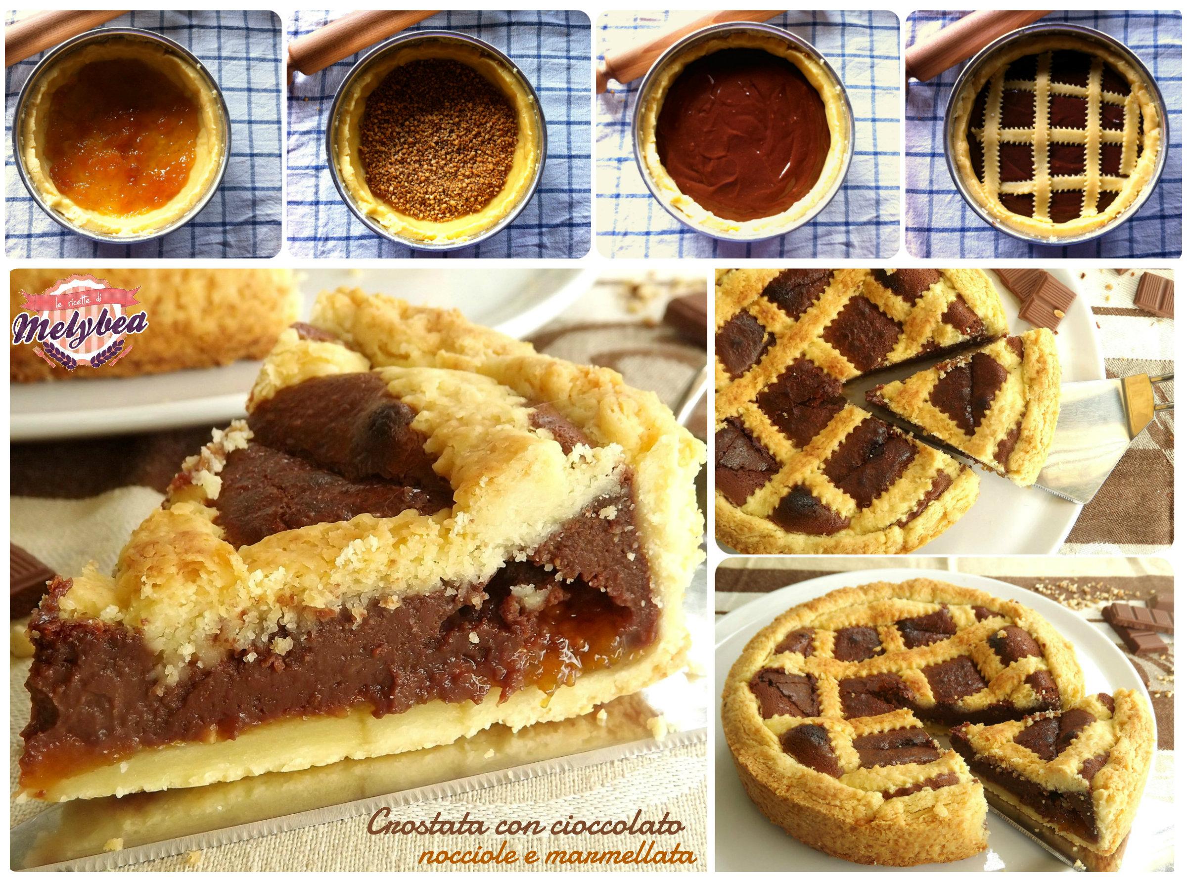 Crostata con cioccolato nocciole e marmellata - Le ricette di Melybea