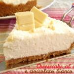 cheesecake al cocco e cioccolato bianco fetta