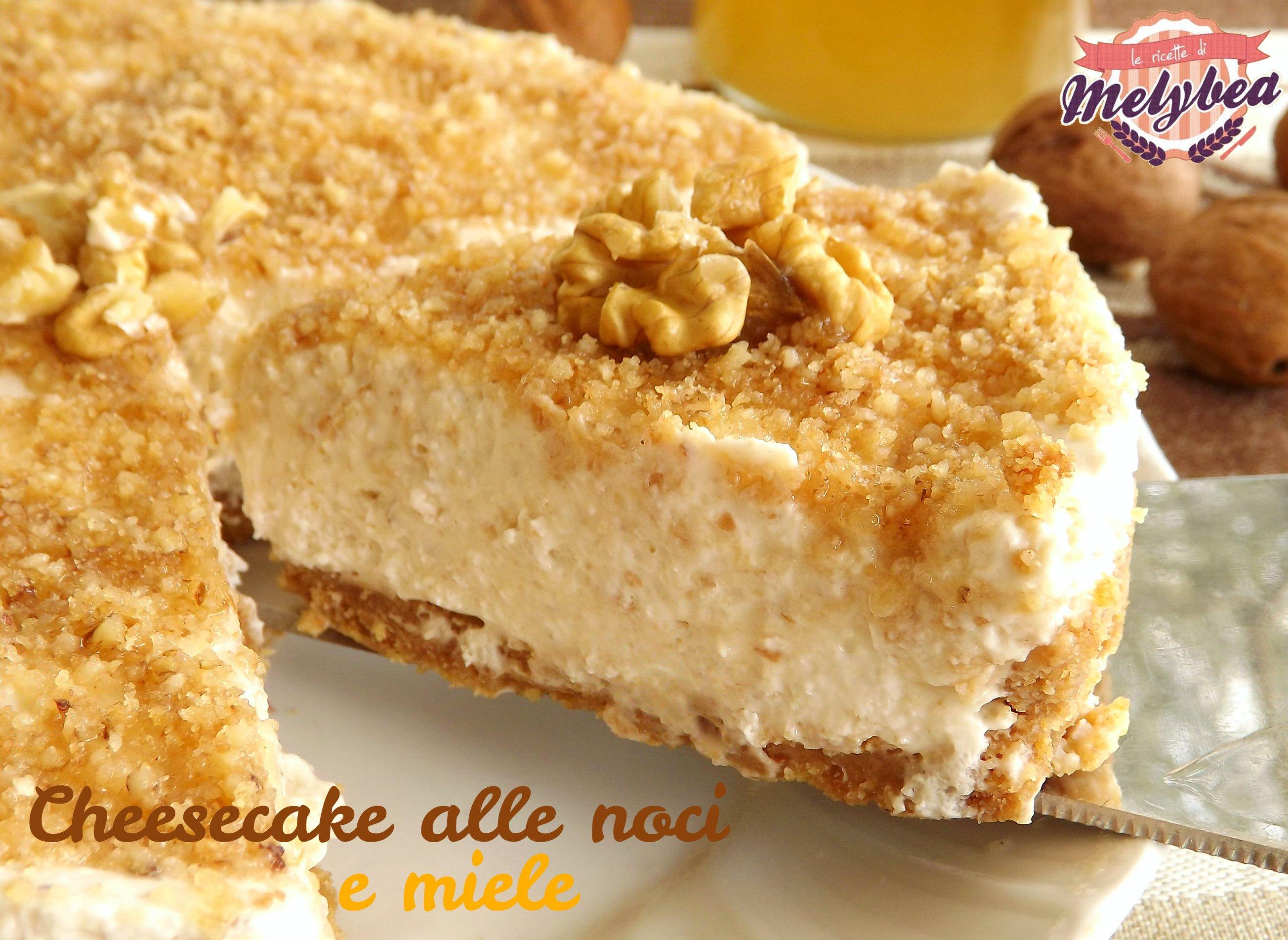 cheesecake alle noci e miele piatto