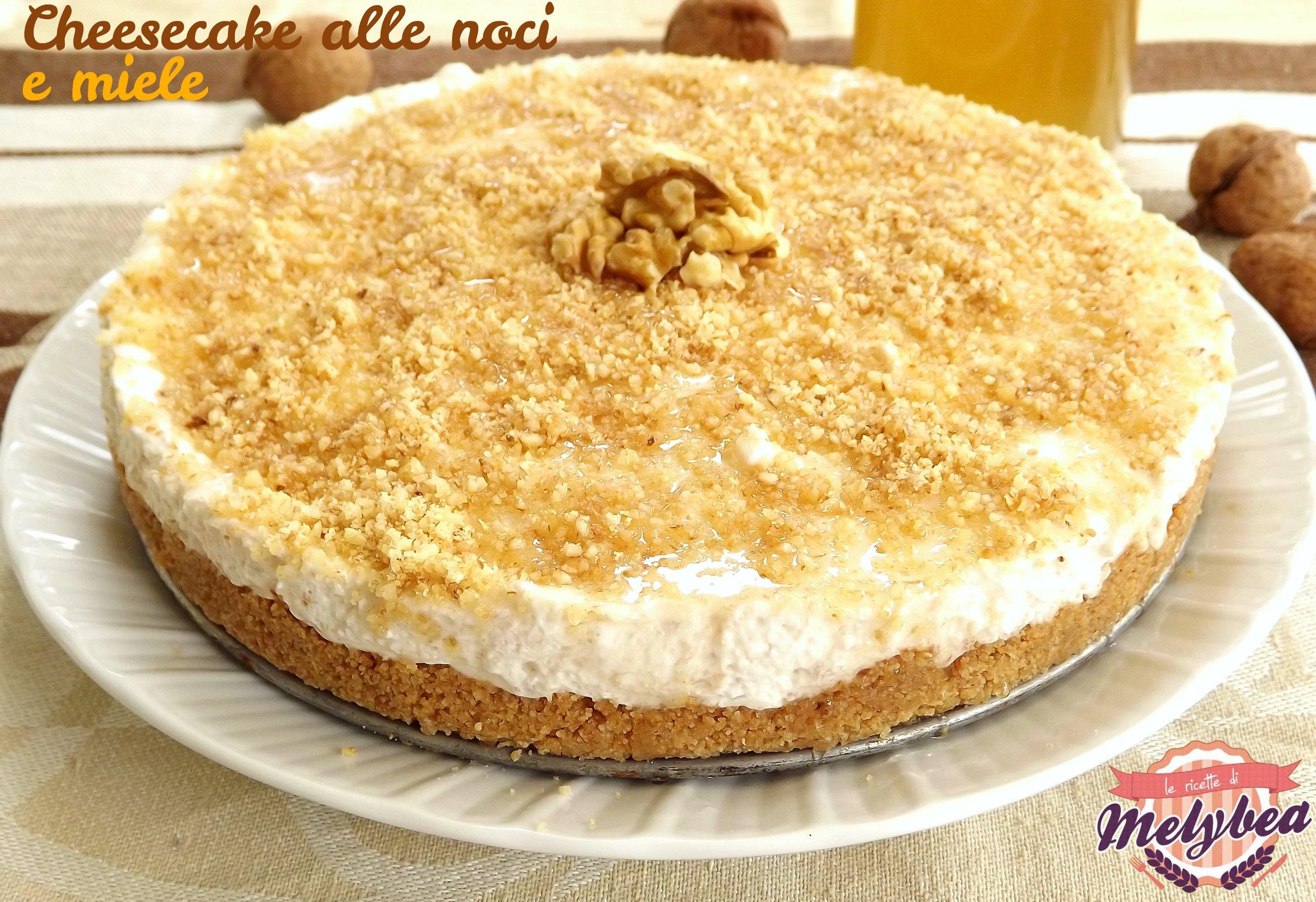 cheesecake alle noci e miele