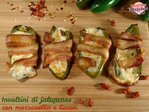 involtini di jalapenos con mozzarella e bacon