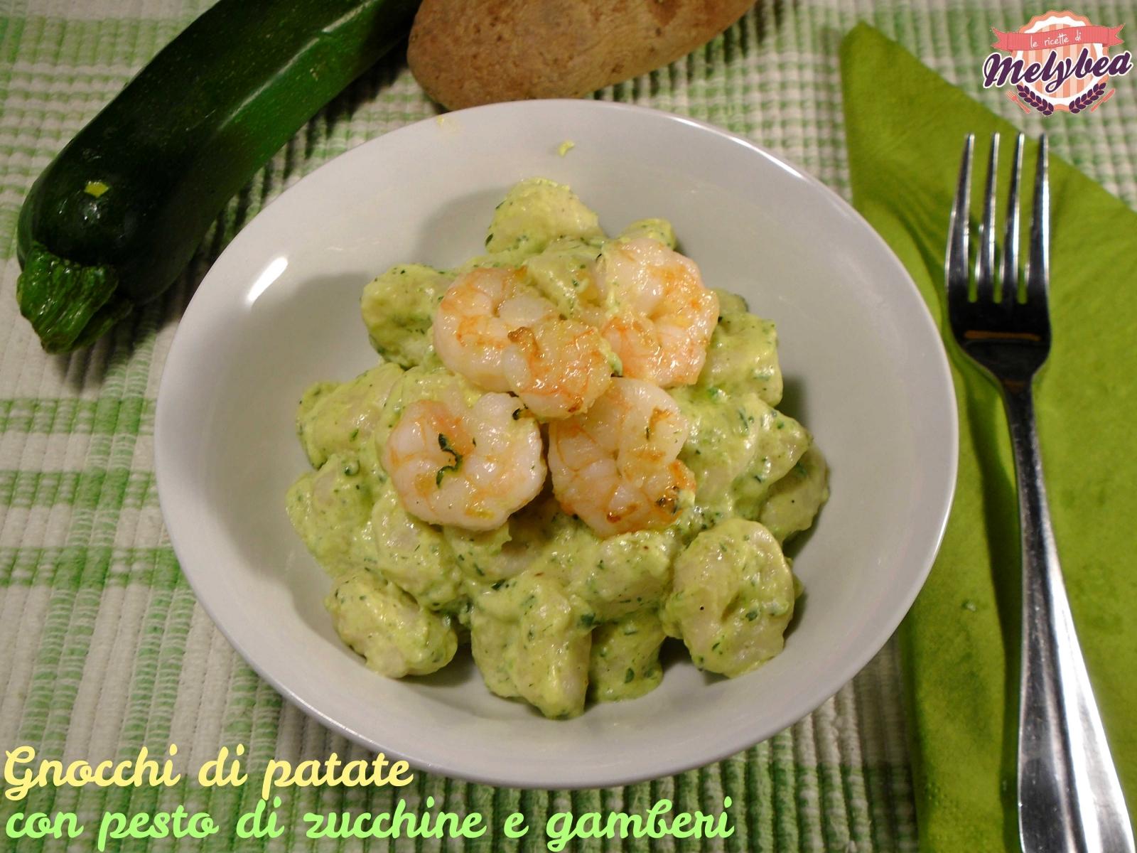 gnocchi di patate con pesto di zucchine e gamberi - le ricette di ... - Come Cucinare Gli Gnocchi Di Patate