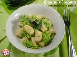 gnocchi di ricotta con zucchine e salvia