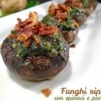 funghi ripieni con spinaci e pancetta zoom