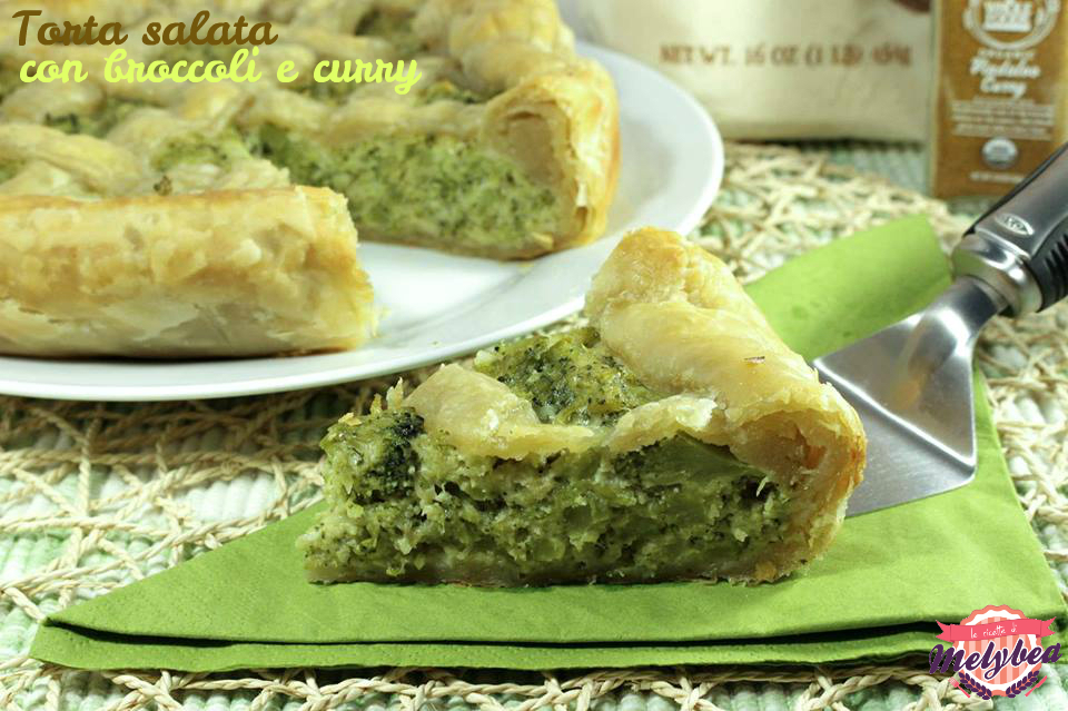 Torta salata con broccoli e curry